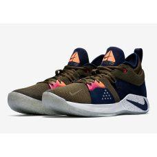 Баскетбольные кроссовки Nike PG 2 Olive Canvas (Реплика А+++) AO2986-042 - С гарантией
