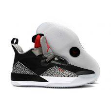 """Кроссовки баскетбольные Nike Air Jordan XXXIII """"Black Cement"""" BV5082-010 (Реплика А+++) - С гарантией"""
