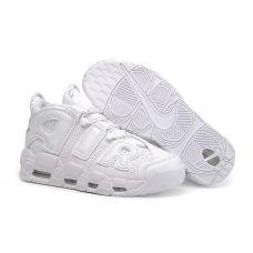 "Женские баскетбольные кроссовки Nike Air More Uptempo ""Triple White"" 414962-102 - С гарантией"