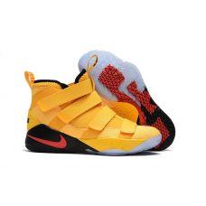 Баскетбольные кроссовки Nike LeBron Soldier 11 Yellow Black 897645-390 - С гарантией