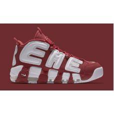 Баскетбольные кроссовки Supreme x Nike Air More Uptempo 902290-600 - С гарантией