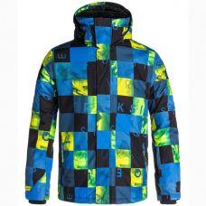 Горнолыжная куртка Quiksilver Mission Print Y B SNJT BQZ2 Olympian Blue-Plaid  ( Оригинал ) BQZ2 - C гарантией