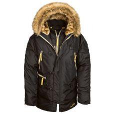 Куртка зимняя Alpha Industries N-3B Inclement Parka Black - С гарантией