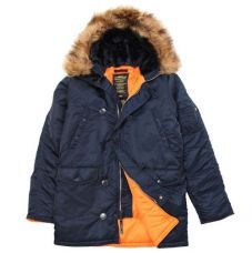 Зимняя куртка Alpha Industries Slim Fit N-3B Parka Blue / Orange - С гарантией