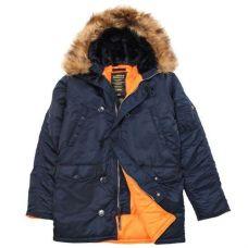 Зимняя куртка Alpha Industries Slim Fit N-3B Parka Blue / Orange - С гарантией