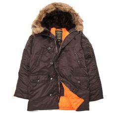 Куртка зимняя Alpha Industries Slim Fit N-3B Parka Deep Brown - С гарантией