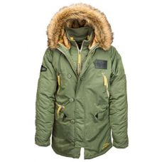 Куртка зимняя Alpha Industries N-3B Inclement Parka Sage - С гарантией