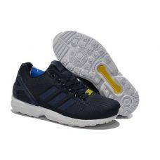 Кроссовки Adidas ZX Flux Navy\White - С гарантией