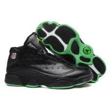 Баскетбольные кроссовки Air Jordan 13 Retro Black Green 310811-030 (Реплика А+++)