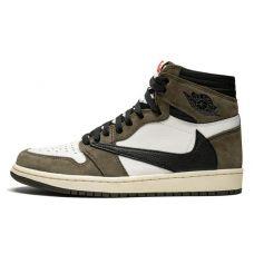 Баскетбольные кроссовки Air Jordan 1 Retro High Travis Scott CD4489-100 (Реплика А+++)