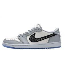 Баскетбольные кроссовки Air Jordan 1 Retro Dior Low  CN8817-002 (Реплика А+++)