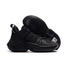 """Баскетбольные кроссовки Air Jordan Why Not Zero.2 """"ALL BLACK""""  CI6284-001 (Реплика А+++)"""