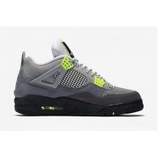 """Баскетбольные кроссовки Air Jordan 4 Retro """"NEON GRAY"""" CT5352-007 (Реплика А+++)"""