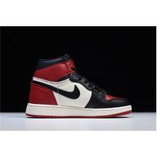 """Баскетбольные кроссовки Air Jordan 1 Retro High OG  """"BRED TOE"""" 555098-610 (Реплика А+++)"""