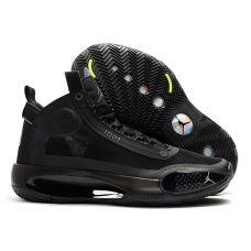 """Баскетбольные кроссовки Nike Air Jordan 34 """"BLACK CAT"""" AR3241-101 (Реплика А+++)"""