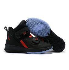 """Баскетбольные кроссовки Nike LeBron Soldier 13 """"BLACK UNIVERSITY RED"""" AR4328-006 (Реплика А+++)"""
