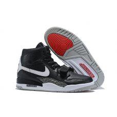 """Баскетбольные кроссовки Air Jordan Legacy 312 """"BLACK CEMENT"""" AV3923-001 (Реплика А+++)"""
