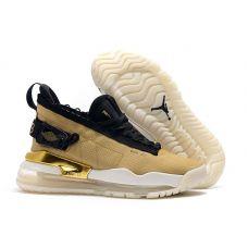 """Баскетбольные кроссовки Jordan Proto Max 720 """"Gold Black"""" BQ6628-700 (Реплика А+++)"""