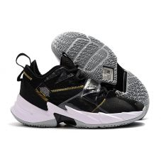 "Баскетбольные кроссовки Air Jordan Why Not Zero.3 ""BLACK/WHITE-METALLIC GOLD"" CD3005-001 (Реплика А+++)"