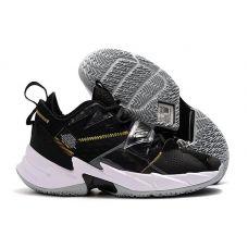 "Баскетбольные кроссовки Air Jordan Why Not Zero.3 ""BLACK/WHITE-METALLIC GOLD"" CD3005-001 (Реплика А+++)"