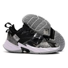 "Баскетбольные кроссовки Air Jordan Why Not Zero.3 ""BLACK CEMENT ELEPHANT PRINT"" CD3005-010 (Реплика А+++)"