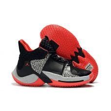 """Баскетбольные кроссовки Air Jordan Why Not Zero.2  """"BLACK CEMENT""""  CI6284-006 (Реплика А+++)"""