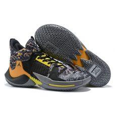 """Баскетбольные кроссовки Air Jordan Why Not Zero.2  """"WOLF GREY ORANGE-YELLOW"""" CI6284-401 (Реплика А+++)"""