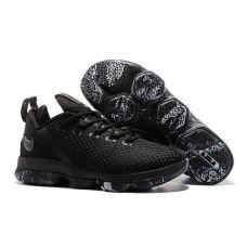 Баскетбольные кроссовки Nike LeBron XIV Low Triple Black 878636-001 (Реплика А+++)
