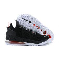 "Баскетбольные кроссовки Nike Lebron 18 ""BLACK/UNIVERSITY RED/WHITE"" CQ9384-001 (Реплика А+++)"