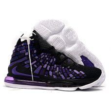 "Баскетбольные кроссовки Nike Lebron 17 ""BLACK/PURPLE-WHITE"" BQ3277-044 (Реплика А+++)"