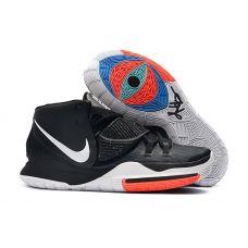 "Баскетбольные кроссовки Nike Kyrie 6 ""BLACK WHITE "" BQ4630-100 (Реплика А+++)"