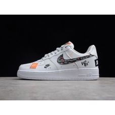 Кроссовки женские Nike Air Force 1 07 Just Do It Pack White AR7729-100 (Реплика А+++)