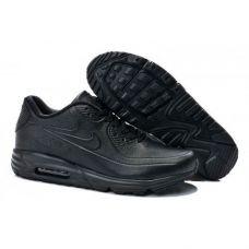 Мужские кроссовки Nike Air Max Lunar 90 SP Leather All Blacks - С гарантией