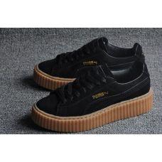 Женские кроссовки Puma x Rihanna Suede Creeper Black Gum - С гарантией