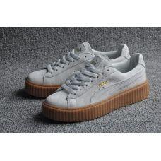 Женские кроссовки Puma x Rihanna Suede Creeper White Gum - С гарантией